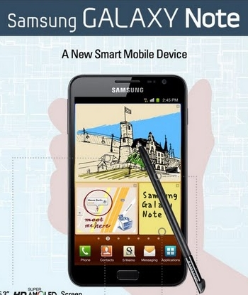 Unlocked Samsung Galaxy Note, On Sale