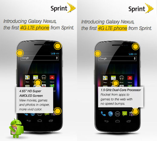 Sprint Grabs Galaxy Nexus