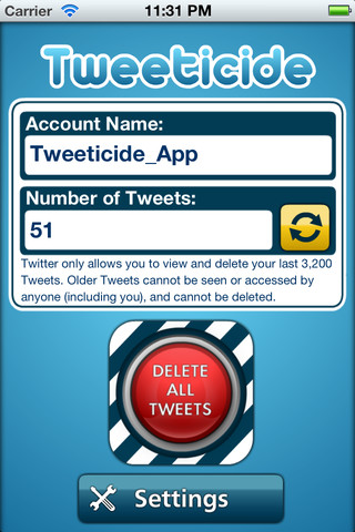 Tweeticide: Allows iPhone Users To Delete All Tweets