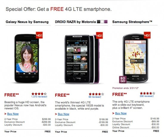 "Verizon Offering ""Loyal"" Customers With Free Smartphones"