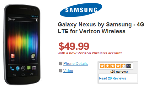 Wirefly Offering Verizon Galaxy Nexus for $50