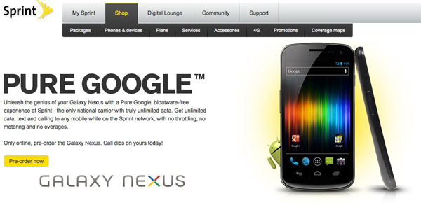 Sprint All Set To Bring Galaxy Nexus To The Now Network